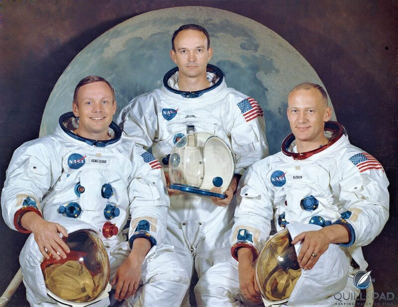 7 NASA Astronauts Wearing Their Gold Omega Speedmaster Professional Apollo XI Limited Editions: Celebrating 50 Years Of Man On The Moon | Quill & Pad