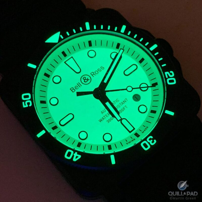 Bell & Ross BR 03-92 Diver Full Lum: The Little Details Are Lit!   Quill & Pad