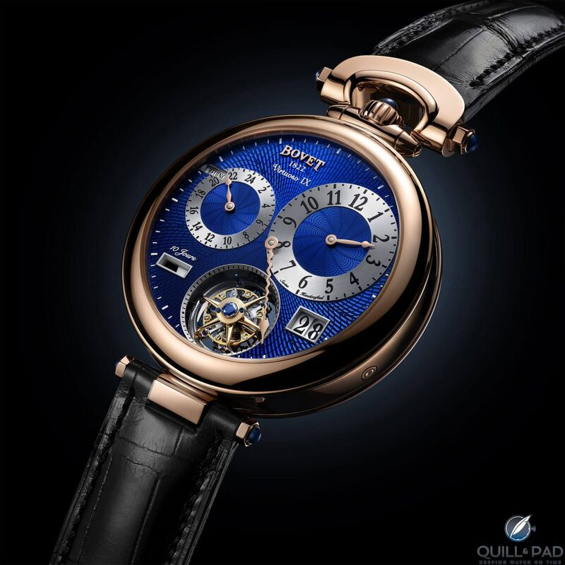 Bovet Virtuoso IX: Double-Faced Masterpiece Featuring Tourbillon, Large Date, Second Time Zone, World Time, Plus 10-Day Power Reserve With Spherical Winding   Quill & Pad