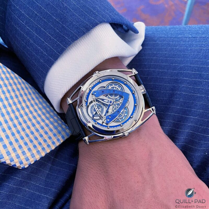 De Bethune DB28 Steel Wheels Sapphire Tourbillon: Let There Be (Blue) Light! | Quill & Pad