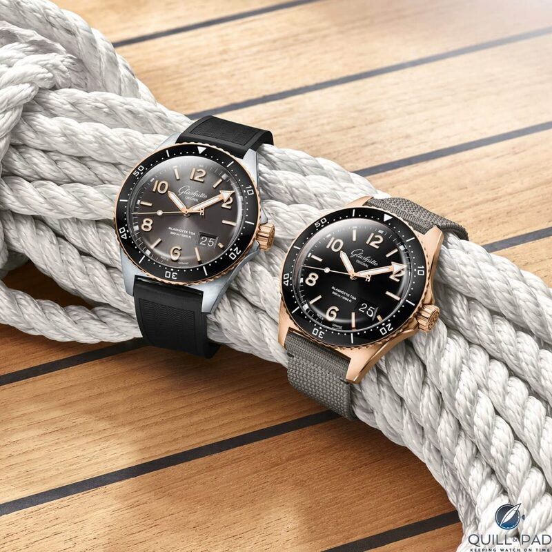 Glashütte Original Takes To The Seas (Again) With New Versions Of The SeaQ In Stainless Steel, Two-Tone, Red Gold, And Even Diamonds   Quill & Pad