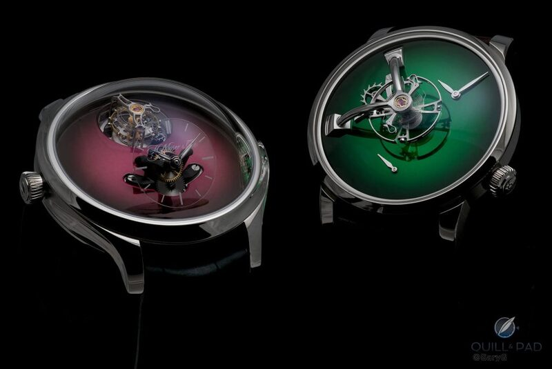 Hands On & Live Photos: MB&F x H. Moser LM101 And H. Moser x MB&F Endeavour Cylindrical Tourbillon | Quill & Pad