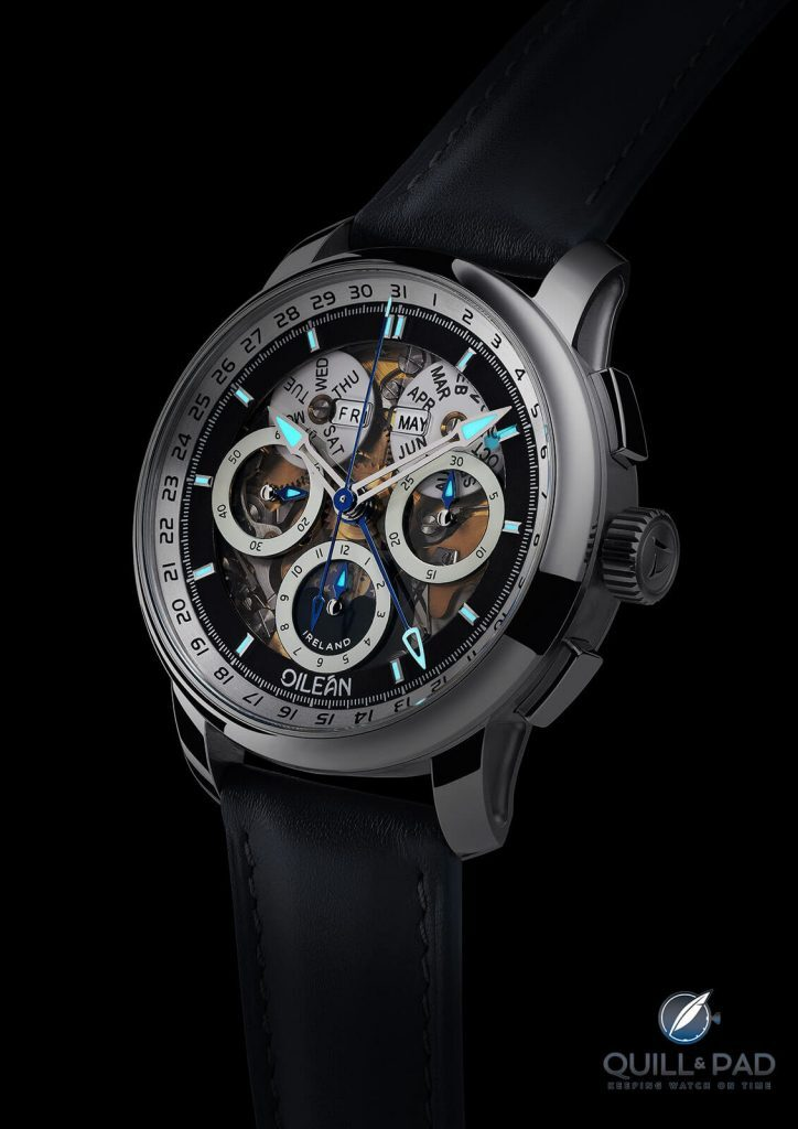 John McGonigle Oileán H-B1 Triple Calendar Chronograph: I Don't Know Of A More Beautiful Complicated Movement Available For The Money   Quill & Pad
