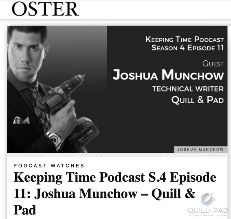 Joshua Munchow On Oster Jewelers 'Keeping Time' Podcast   Quill & Pad