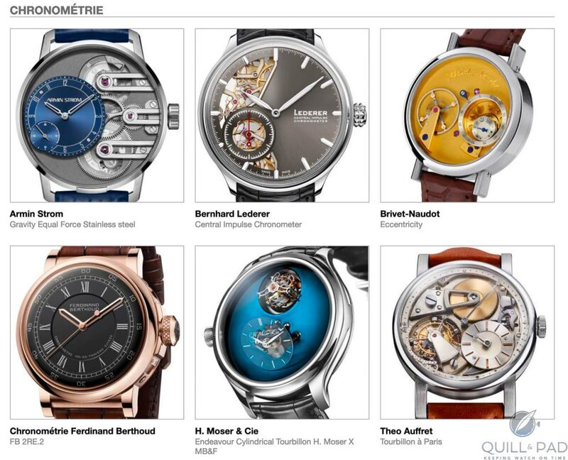 Our Predictions In The Chronometry Category Of The 2020 Grand Prix d'Horlogerie de Genève (GPHG): Our Panel Is United, But Not Unanimous   Quill & Pad