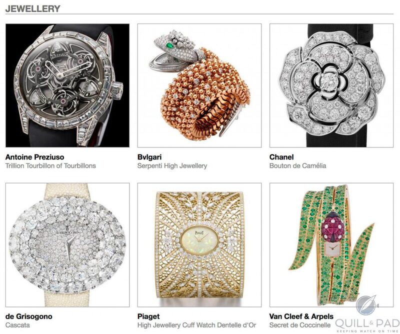 Our Predictions In The Jewellery Category Of The 2018 Grand Prix d'Horlogerie De Genève: And Again With Diverse Viewpoints   Quill & Pad