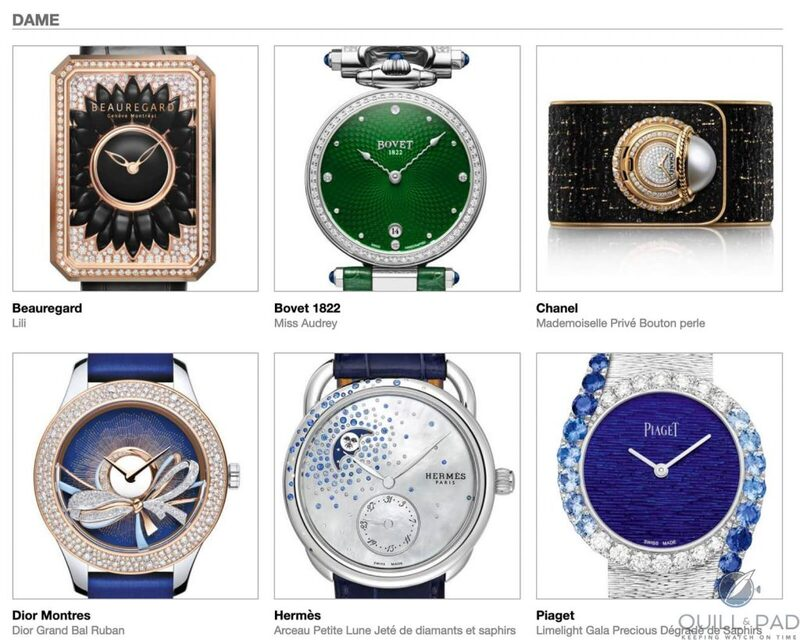 Our Predictions In The Ladies Category Of The 2020 Grand Prix d'Horlogerie de Genève (GPHG): A Sprinkling Of Jewels, A Mismatched Date, And The Ever-Raging Debate On Quartz | Quill & Pad