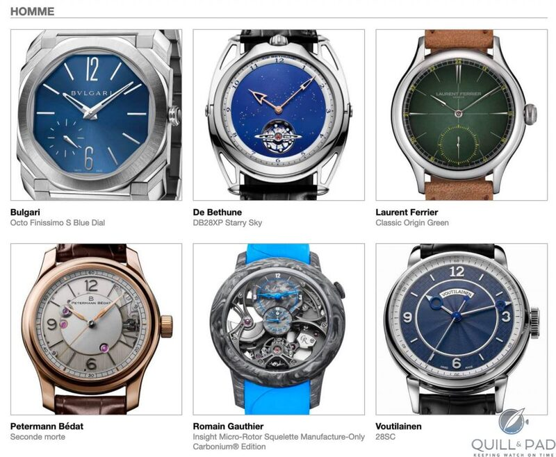 Our Predictions In The Men's Category Of The 2020 Grand Prix d'Horlogerie de Genève (GPHG): All 6 Are Potential Winners But Our Panelists Ruthlessly Whittle Them Down | Quill & Pad