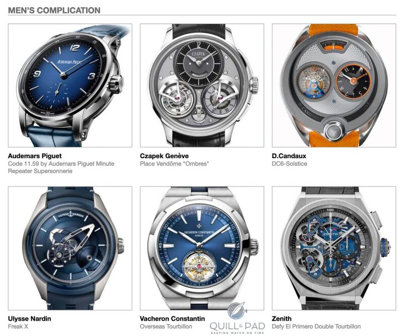 Our Predictions In The Men's Complication Category Of The 2019 Grand Prix d'Horlogerie de Genève (GPHG): It's Complicated | Quill & Pad