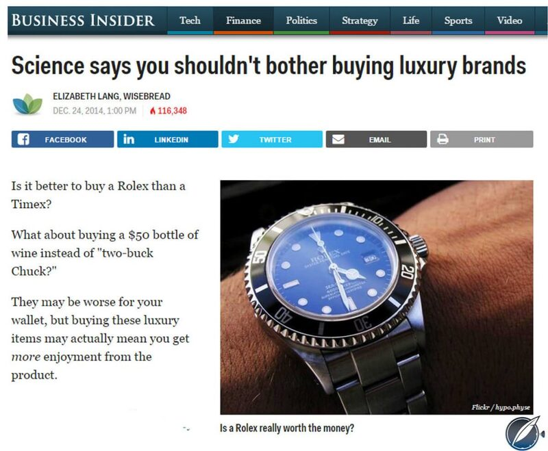 Screw The Science And Buy Luxury Watches! - Reprise | Quill & Pad